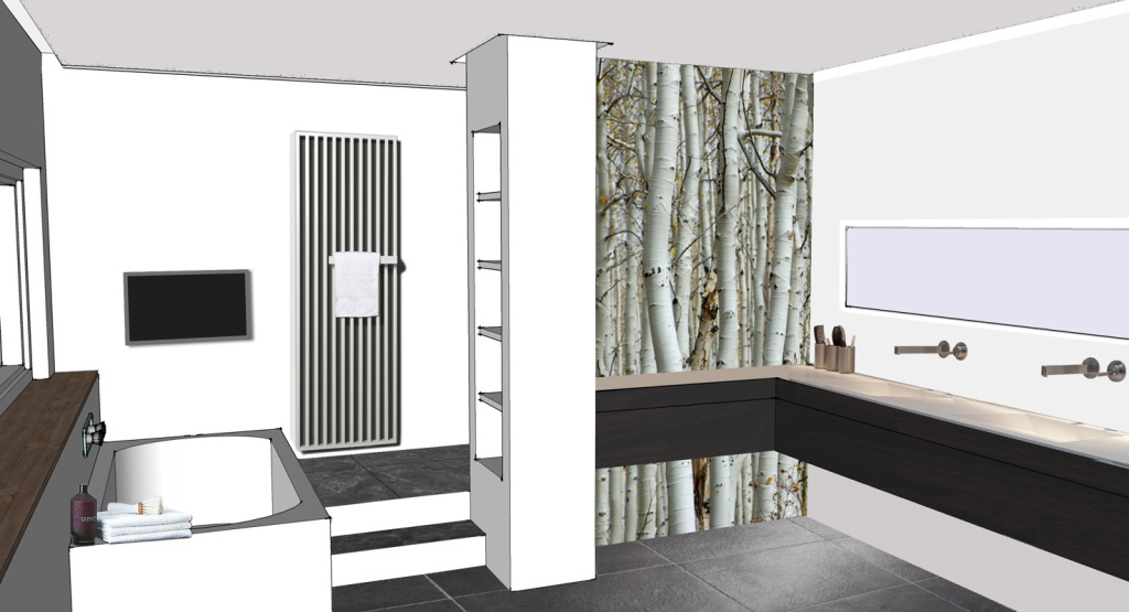 Badkamer Met Niveaus : Badkamer eikenveen u2013 tint210