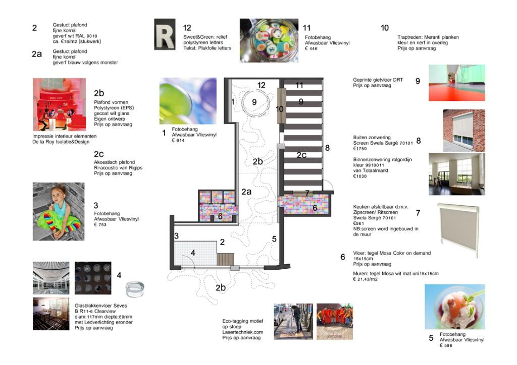 Snoepwinkel tint210 - Kleur en materialen ...