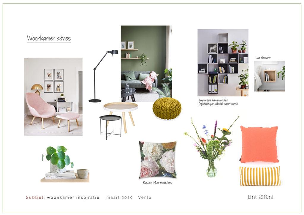 Woonkamer indeling kleur advies interieurstylist