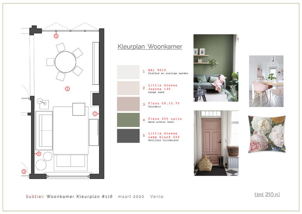 Kleur plan woonkamer keuradvies Venlo Limburg Interieurstylist